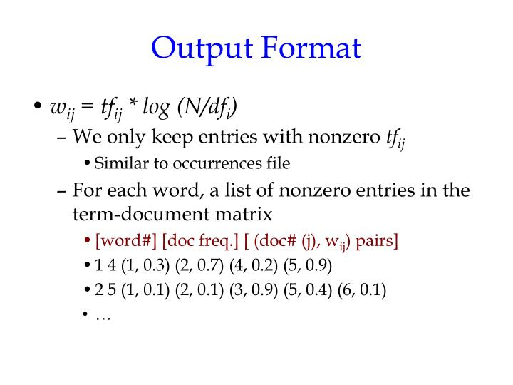 Output Format