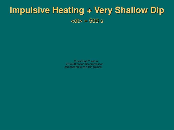 Impulsive Heating + Very Shallow Dip
