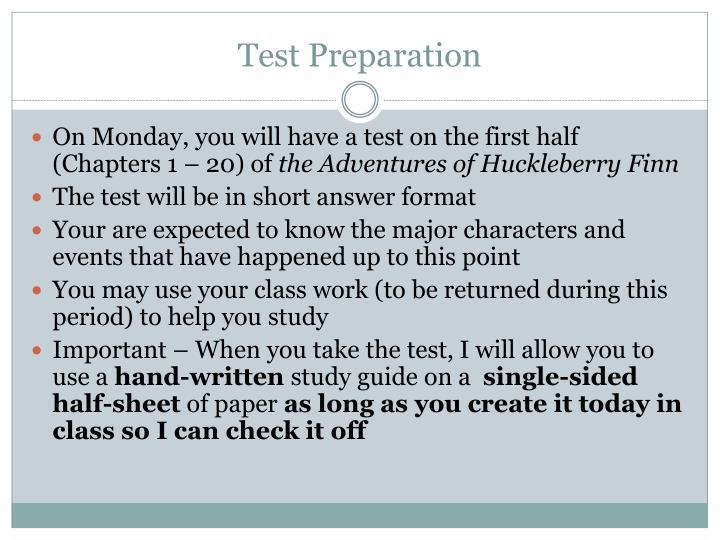 Test Preparation