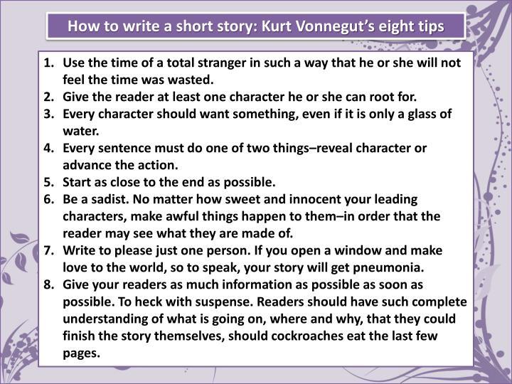 How to write a short story: Kurt Vonnegut's eight tips