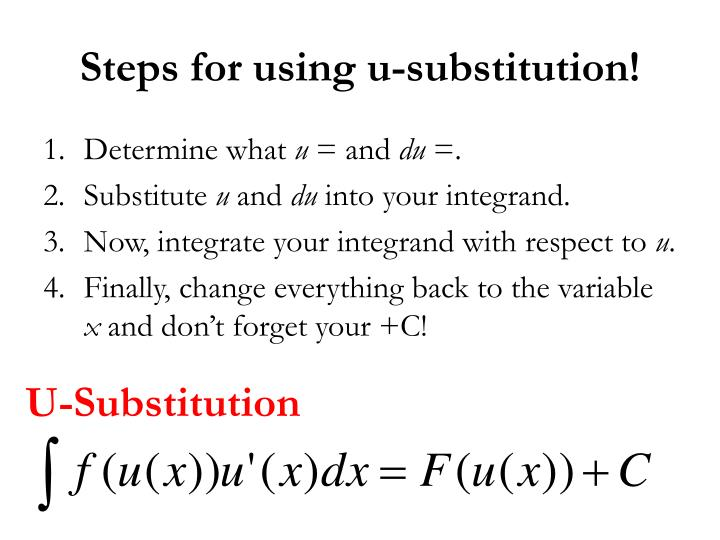 Steps for using