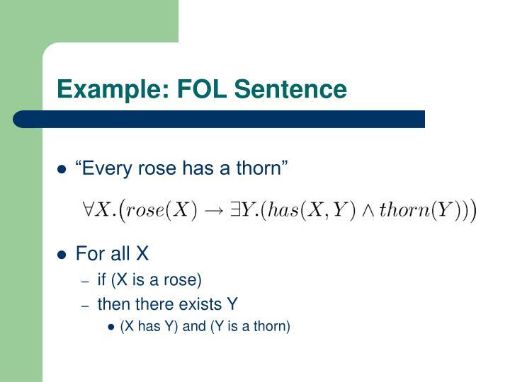 Example: FOL Sentence