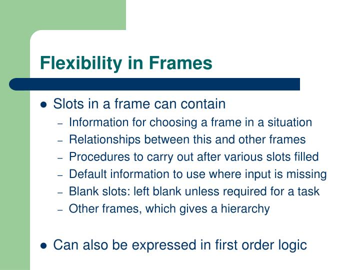 Flexibility in Frames
