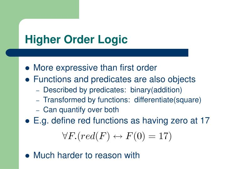 Higher Order Logic