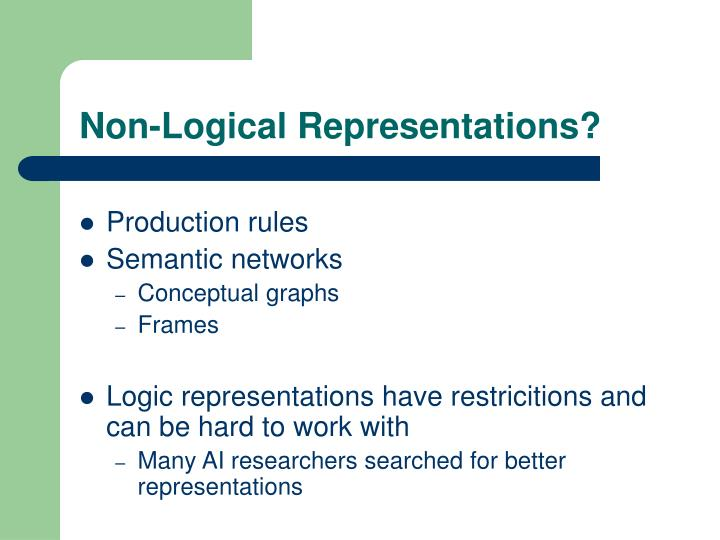 Non-Logical Representations?