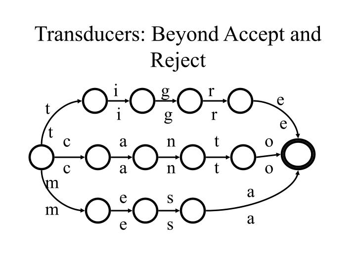 Transducers: Beyond Accept and Reject
