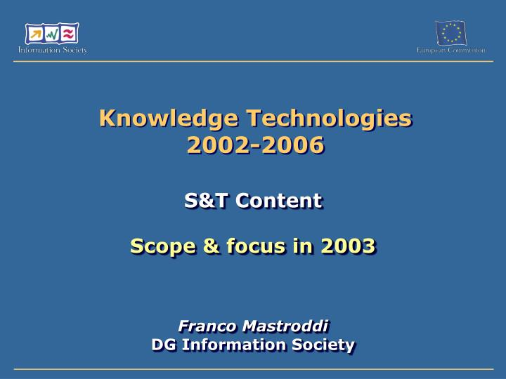 knowledge technologies 2002 2006