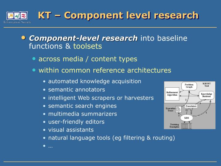 KT – Component level research