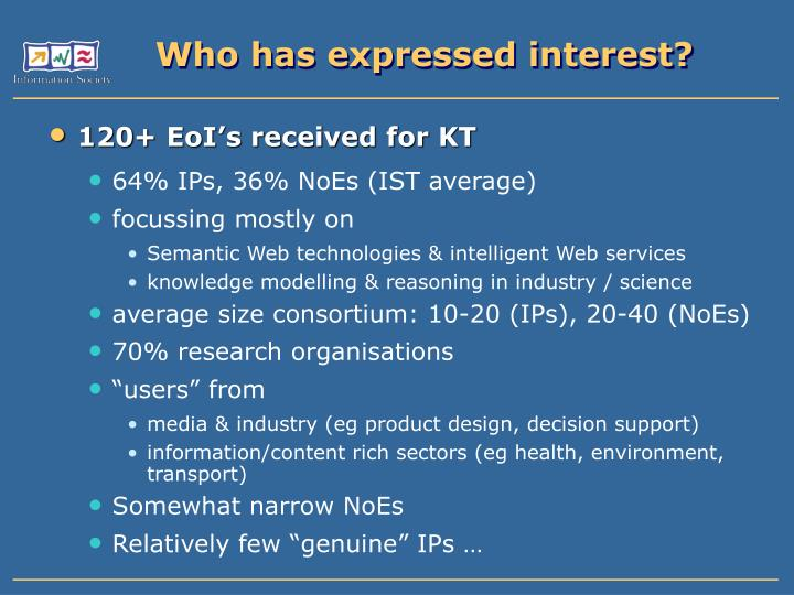Who has expressed interest?