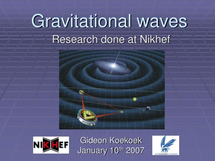 Research done at Nikhef