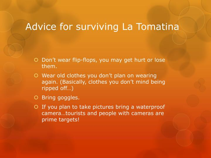 Advice for surviving La