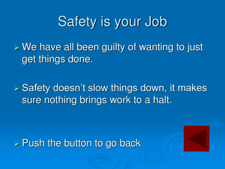 Safety is your Job