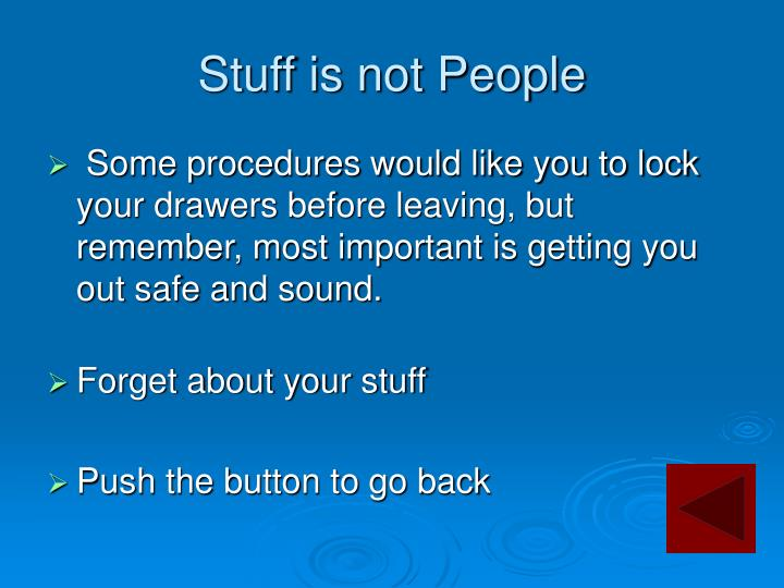 Stuff is not People