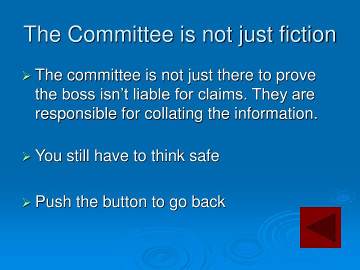 The Committee is not just fiction