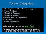 today s categories
