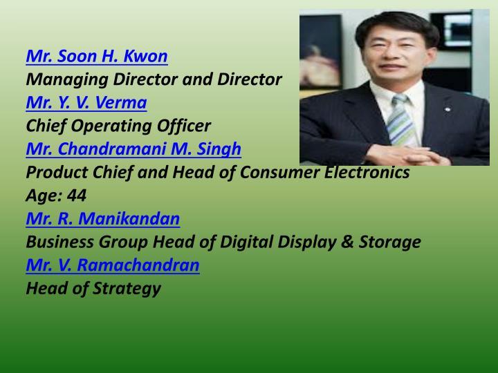 Mr. Soon H. Kwon