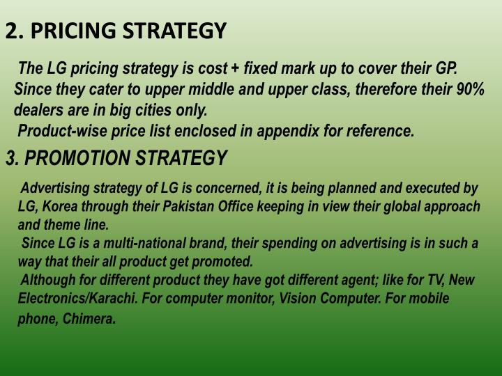 2. PRICING STRATEGY