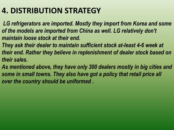 4. DISTRIBUTION STRATEGY