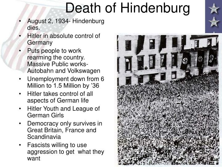 Death of Hindenburg
