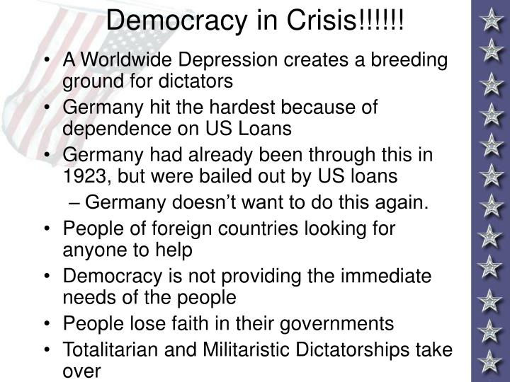 Democracy in Crisis!!!!!!