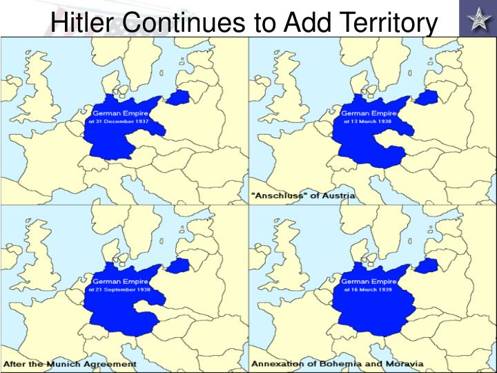 Hitler Continues to Add Territory