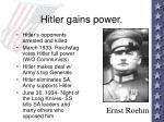 hitler gains power