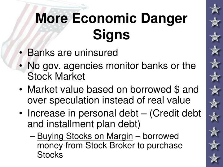 More Economic Danger Signs