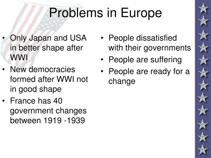 Only Japan and USA in better shape after WWI