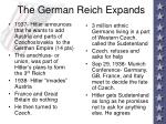 the german reich expands