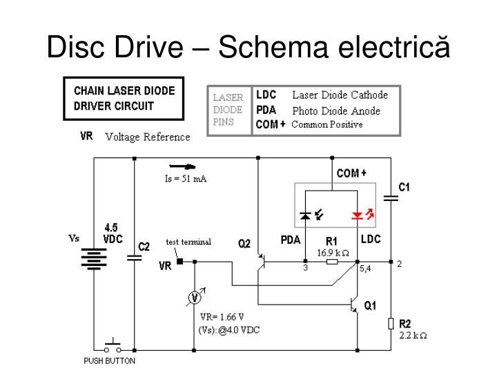 Disc Drive – Schema electric