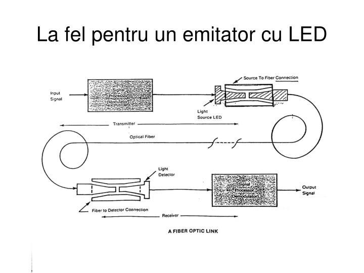 La fel pentru un emitator cu LED