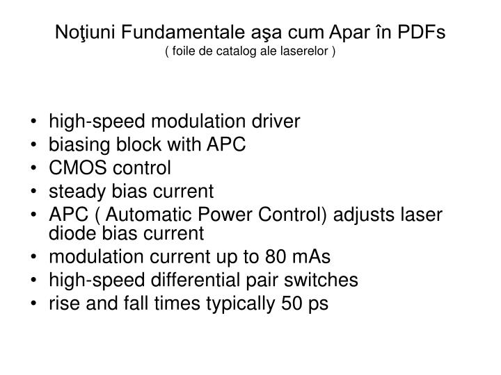 Noţiuni Fundamentale aşa cum Apar în PDFs