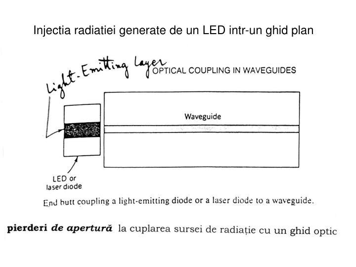 Injectia radiatiei generate de un LED intr-un ghid plan