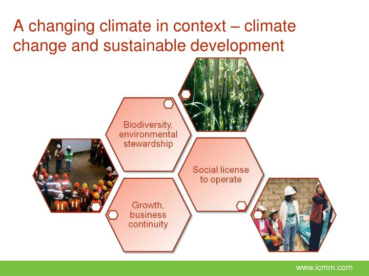 A changing climate in context – climate change and sustainable development