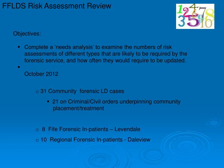 FFLDS Risk Assessment Review