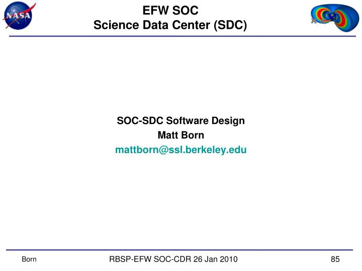 Efw soc science data center sdc