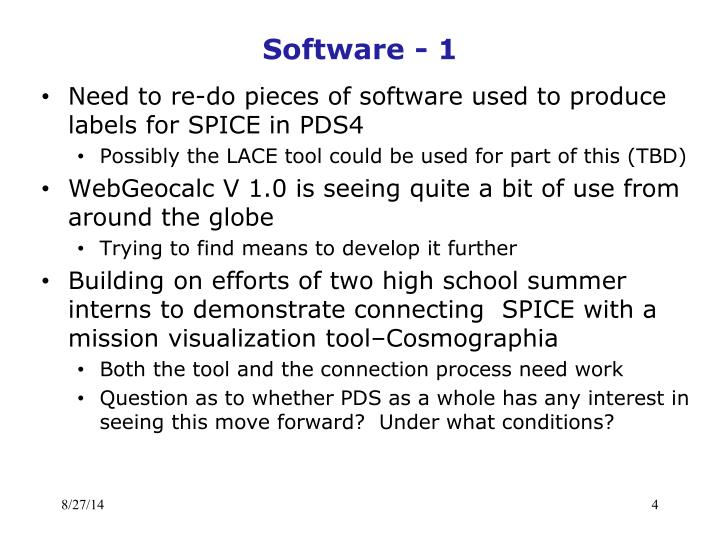 Software - 1