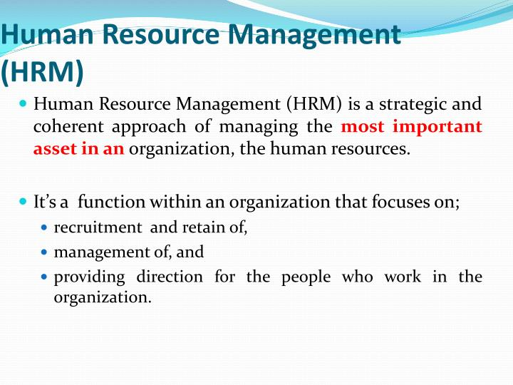 Human resource management hrm