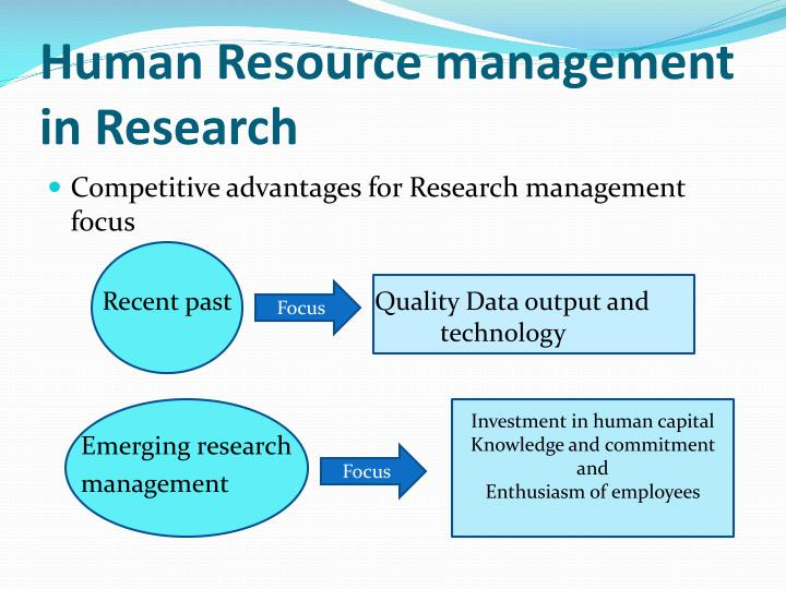 Human Resource management in Research