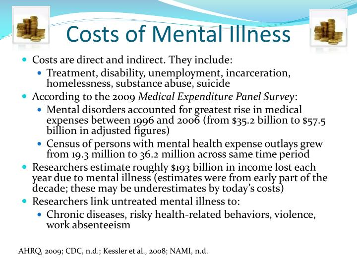 Costs of Mental Illness