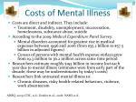 costs of mental illness