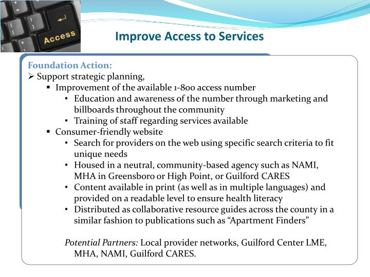Improve Access to Services