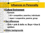 influences on personality1