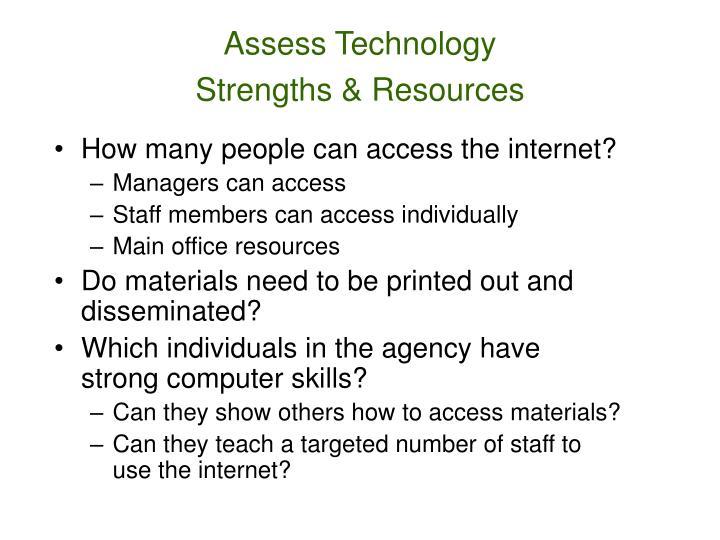 Assess Technology