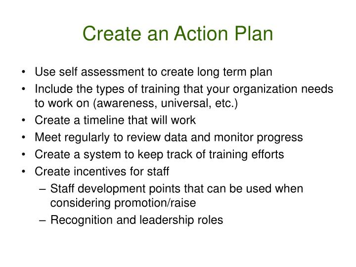 Create an Action Plan