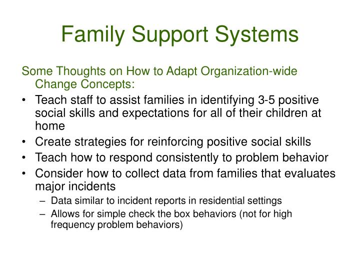 Family Support Systems