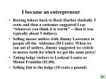 i became an entrepreneur