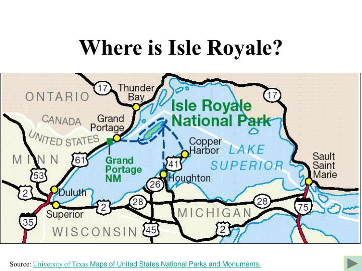 Where is Isle Royale?
