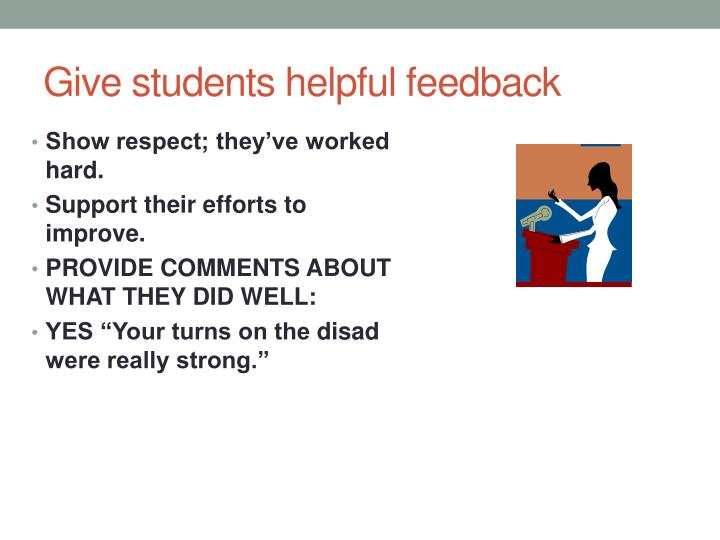 Give students helpful feedback
