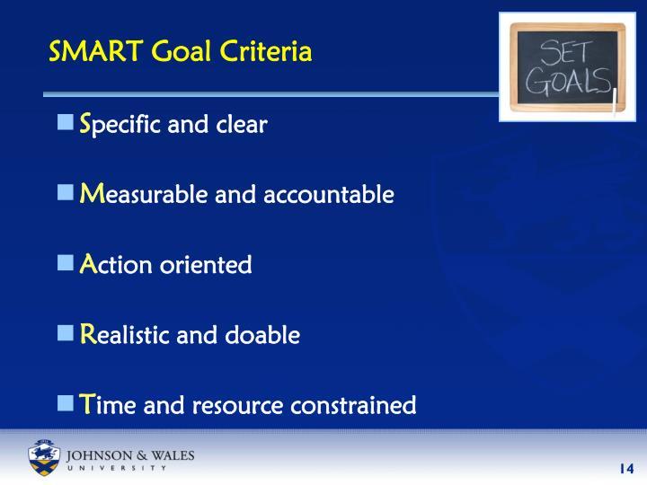 SMART Goal Criteria